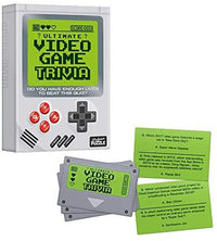Professor Puzzle VIDEO GAME TRIVIA Set - Includes 300 Video Game Trivia Questions in a Retro Gameboy box, Indoor or Outdoor Activity Quiz, for Kids, Adults, Family, Friends