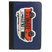 Blue Enjoy Your Journey Bus Unisex Passport Holder