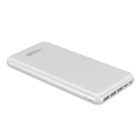 Promate Portable Charger, High-Capacity 30,000mAh Smart Charger Power Bank with Lightning and Micro USB Input, Three USB output with 2-way Type-C Charging Port for all USB Powered Devices, Provolta-30 WHITE