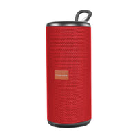 Promate Bluetooth Speaker, Powerful 10W Wireless Bluetooth v5.0 Speaker with HD Sound, Louder Volume, 8-Hour Long Playtime, Built-in Mic and 3.5mm Audio Jack for Party, Travel, Home, Outdoor, Pylon Red