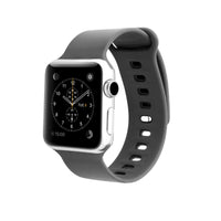 Promate - Silicone Watch Strap, Superior Quality Silicone Quick Release Soft Rubber Replacement Apple Watch 42mm/44mm Band with Sweat Resistance and Pin-Tuck Closure Secure Fit for Apple Series 1/2/3/4 Medium/Large Size, Rarity-42ML Grey