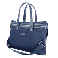 Promate Women Laptop Tote Bag, Lightweight 15.6 Inch Laptop Handbag Shoulder Bag with Organise Pocket and Secure Multi Storage Option for Laptop Up To 15.6 Inch, Work, Roxy-LD Blue