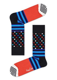 Happy Sock, Stripes And Dots Sock