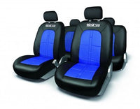 SPARCO SEAT COVER SET BLACK/BLUE