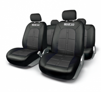 SPARCO SEAT COVER SET BLACK/BLACK