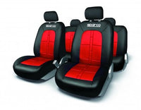 SPARCO SEAT COVER SET BLACK/RED