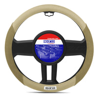 Sparco Universal Steering Wheel Cover Suede/leather Beige 38cm