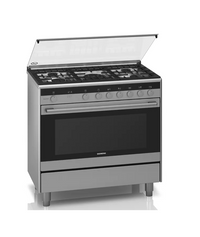 Siemens iQ100 Free-Standing Gas Range Cooker Stainless Steel HG73G8357M