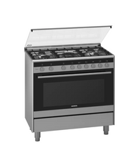 Siemens iQ100 Free-Standing Gas Range Cooker Stainless Steel HG73G6357M