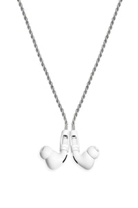 Tapper Airpod / Airpod Pro Strap - 925 Siver Plated Rope Chain with Magnetic Locks, Swedish Design, Compatible with Airpods and Airpods Pro - Silver