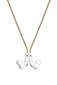Tapper Airpod / Airpod Pro Strap - 18K Gold Plated Rope Chain with Magnetic Locks, Swedish Design, Compatible with Airpods and Airpods Pro - Gold