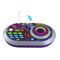 KIDdesigns Trolls 2 World Tour DJ Trollex  Party Mixer - Toys for Kids Portable Mixer w/ TurnTable, Built in Music LED Flashing Lights & Microphone, Volume and Tempo Slider, Connects MP3 Player Audio