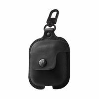 Twelve South - Airpods AirSnap Leather Protective Case - Black