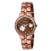 Timesmith Brown Dial Brown Stainless Steel Strap Branded Analog Watch for Women