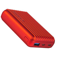 Promate - Type-C Power Bank, Powerful 10000nAh Battery Charger with Type-C and Micro USB Input and Ultra-Fast 2.1A USB Port, USB-C Output, Automatic Voltage Regulation for USB and Type-C Enabled Devices, Titan-10C Red