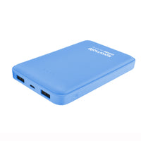 Promate Power Bank, Ultra-High Capacity 10000mAh with Dual USB Port Compact Portable Charger for Smartphone and Tablets, Voltag-10 Blue