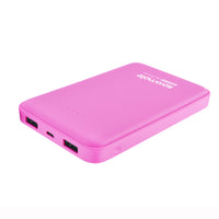 Promate Power Bank, Ultra-High Capacity 10000mAh with Dual USB Port Compact Portable Charger for Smartphone and Tablets, Voltag-10 Pink