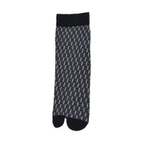 Women Black & Grey Patterned Above Ankle-Length Socks