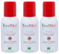 ExcelMed Hand Sanitizer Spray 100ml (Package of 3), Advanced Formula