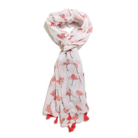 Scarf Affair Flamingo Pink Tassel