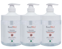 ExcelMed Hand Sanitizer Gel 1L (Package of 3), Advanced Formula