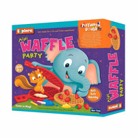 Explore - Mini Waffle Party - Perfumed Dough- Multicolor for kids, Age 3+