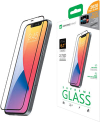 Amazing Thing Supreme Glass for iPhone 12 and iPhone 12 PRO Screen Protector (6.1 inch) Tempered Glass with Dust Filter and Easy Install Tray - [Full Cover 2.75D]