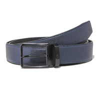 Grained Midnight Blue Belt Strap + Imperial Piercer - Black Buckle