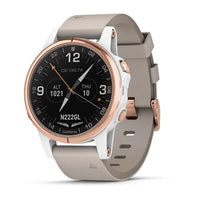 Garmin D2 Delta PX Aviator Watch with Beige Leather Band