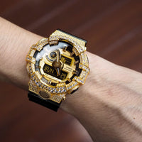 Luxury Watch G-Shock Crystal Bling GA-700 Gold Iced Out