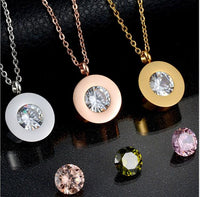 Stainless Steel Women Jewelry Set with Interchangeable Multi Colored Zircons