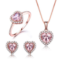 Women Love Story 925 Sterling Silver Jewelry Set.