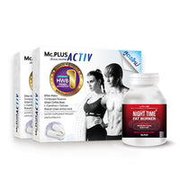 Mc.PLUS ACTIV (Dietary Supplement Product for Losing Weight) 2 Boxes + Night Time Fat Burner 1 Bottle