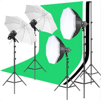GVM P80S LED 4-Light Kit with Umbrellas, Softboxes, and Backdrops