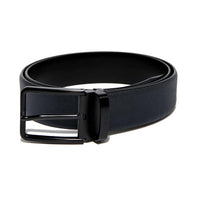 Navy Blue Saffiano Leather Belt Strap + Imperial Piercer - Black Buckle
