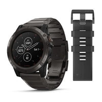 Garmin Fenix 5X Plus Sapphire, Carbon Grey DLC Titanium with DLC Titanium Band