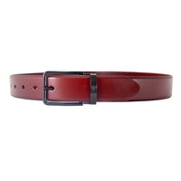 Burgundy Italian Leather Belt Strap + Imperial Piercer - Black Buckle