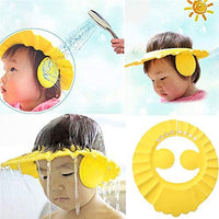 Baby Shower Cap – Adjustable Using Buttons – (Yellow)
