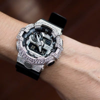 Luxury Watch G-Shock Crystal Bling GA-700 White Silver Iced Out