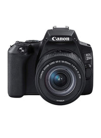 Canon EOS 250D DSLR Camera with EF-s 18-55mm f/4-5.6 IS STM Lens, 24.1 MP, Black
