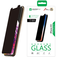Amazing Thing iPhone XS/iPhone X PRIVACY Glass Screen Protector - Tempered Supreme Glass