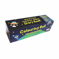 CocoMoco Kids - Solar System Colouring Roll Story Book with Crayons