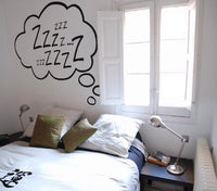 Spoil Your Wall - Wall Decal Bedroom Funny Sticker Black 50x50centimeter