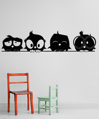 Spoil Your Wall - Wall Decal Four Cute Owls