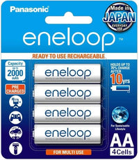 Panasonic Eneloop AA 2000 mAh Pre Charged Rechargeable Batteries - 4 Cells