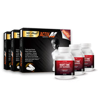Mc.PLUS ACTIV M (For Men) a Dietary Supplement Product for Losing Weight 3 Boxes + Night Time Fat Burner 3 Bottles