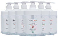 ExcelMed Hand Sanitizer Gel 1L (Package of 6), Advanced Formula
