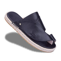 Neqwa Arabic Traditional Sandals Marbella - Black Textured Leather
