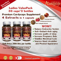 LADIES ValuePack [Super Save Promotion] -Premium Cordyceps Supplement