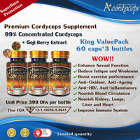 KING ValuePack  [Super Save Promotion] - Premium Cordyceps Supplement